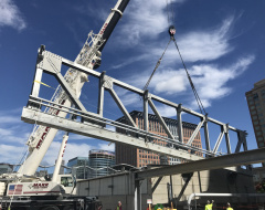 Bridge Install Over Seaport's Silver Line