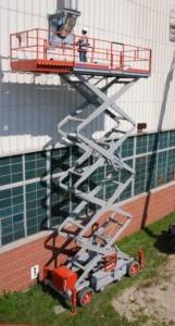 skyjack 9250 rough terrain scissor lift photo
