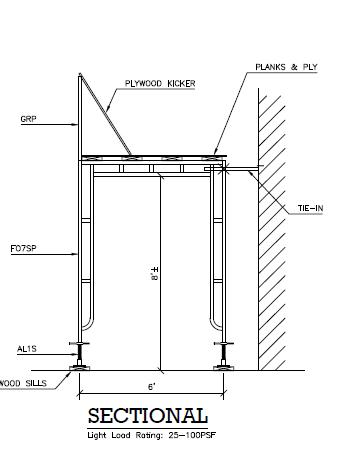 CAD sidewalk drawings sectional