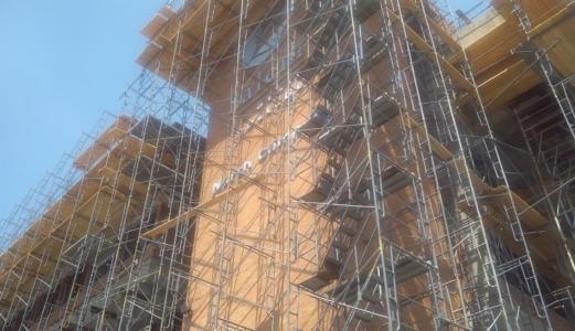 scaffolding at Salem State University