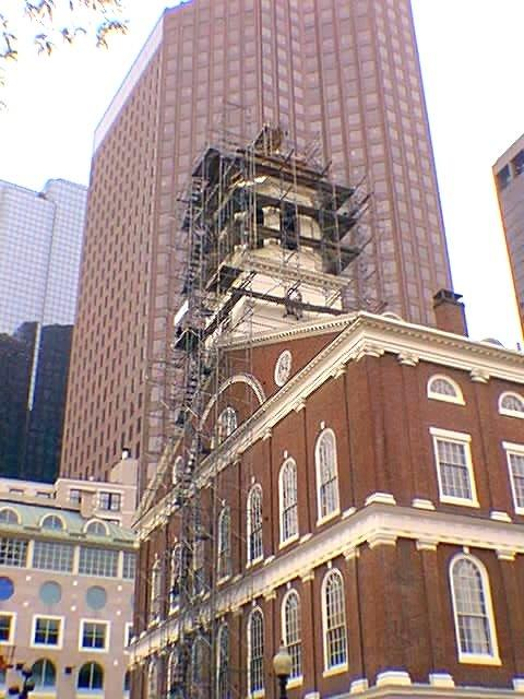 faniuel hall scaffolding photo