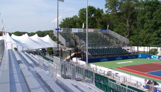 bleachers at The Boston Lobsters Tennis Event