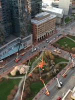aerial lifts at Rose Kennedy Greenway Art Installation