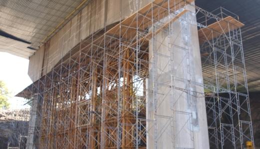 braga bridge scaffolding