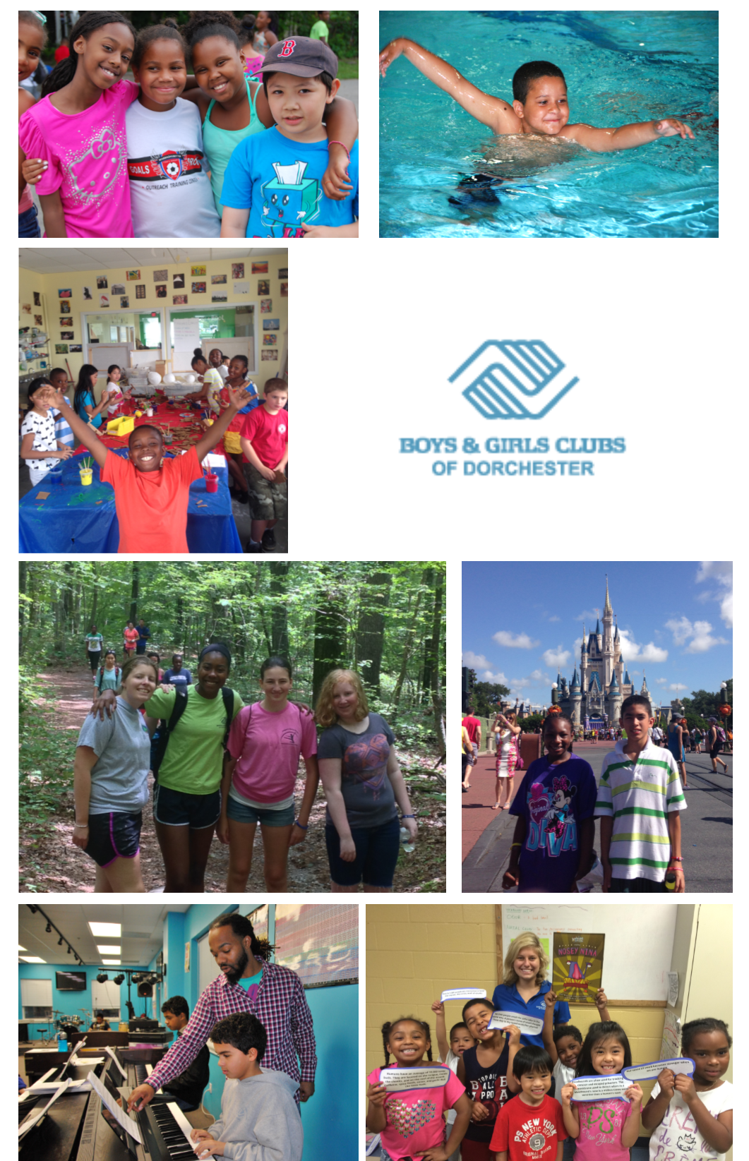 boys and girls club photo collage