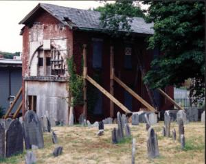 historical facades and wall bracing photo