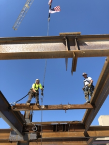 steel beam at brookline place photo